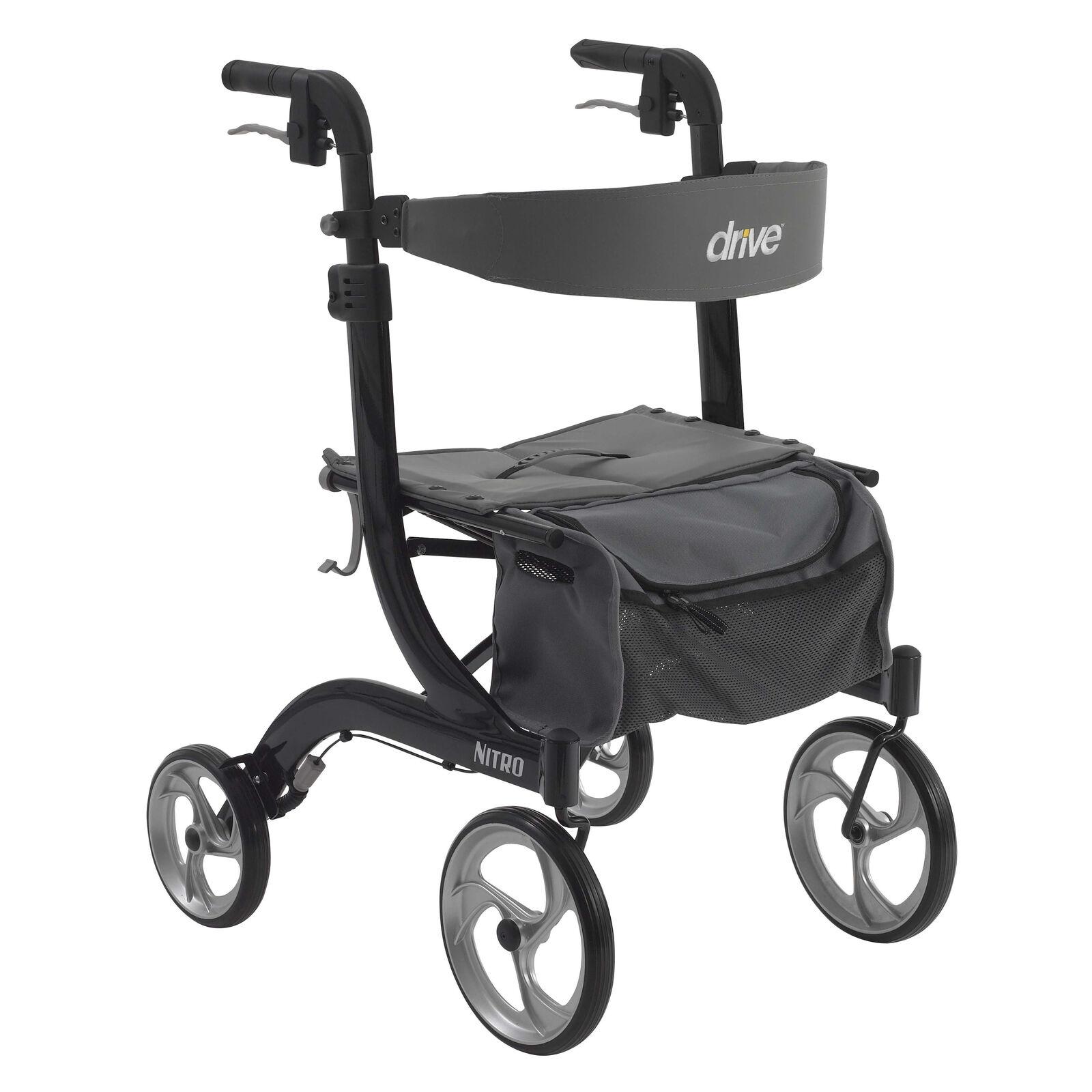 NEW-Drive Medical RTL10266BK NITRO Euro Style Rollator Walke