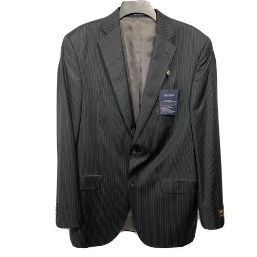 CREMIEUX Mens Super 130's Collection Suit Jacket Sport Coat 40 40L Black Stripe Clothing, Shoes & Accessories