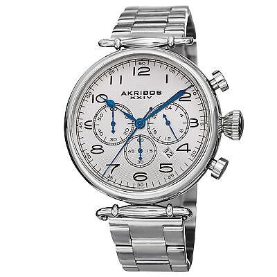 Men's Akribos XXIV AK764SS Grandiose Chronograph Stainless Steel Bracelet Watch