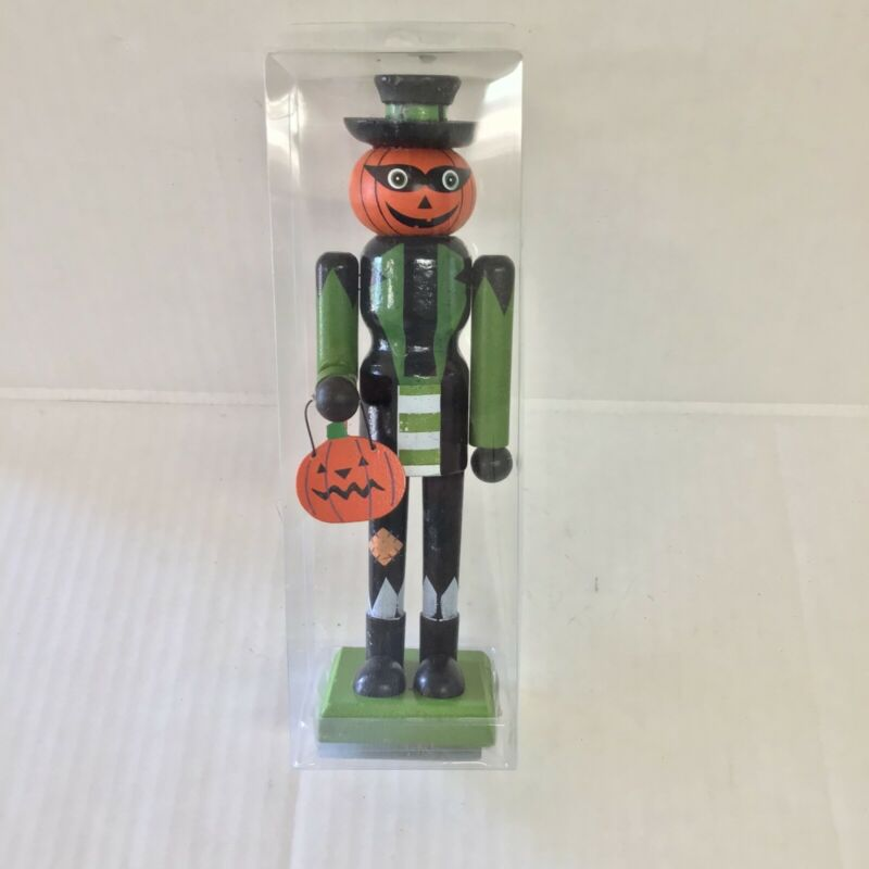 Momentum Brands Happy Halloween Nutcracker Pumpkin figurine New in Box
