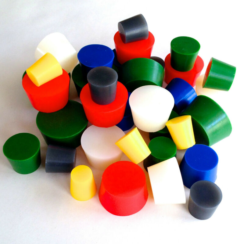 "XXL 3/4"" to 2"" High Temp Silicone Rubber Stopper Powder Coating Plug Kit Set"