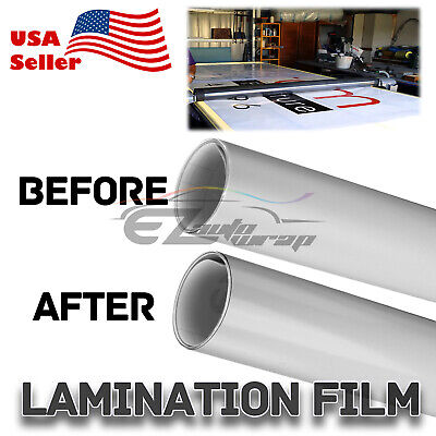36x60 Cold Laminating Film Glossy Clear Monomeric Lamination Poster Sign Decal