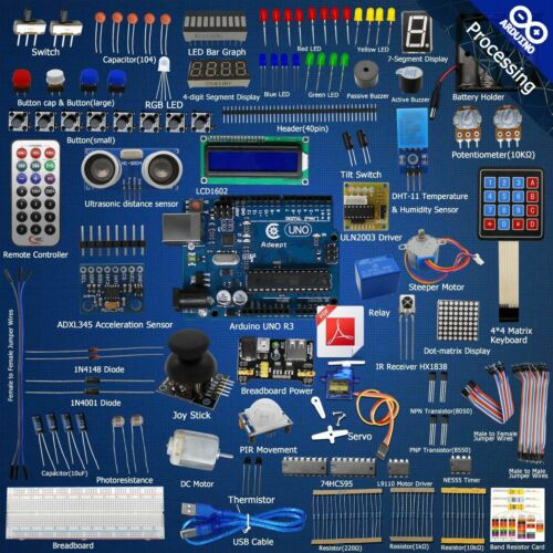 Servo processing Adeept Ultimate Starter learning Kit for Arduino UNO R3 LCD1602