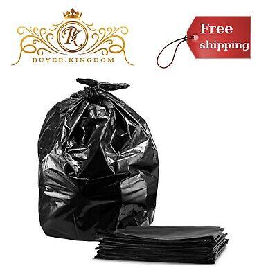 55 Gallon Black Trash Bags Large Plastic Recycling Garbage Flexible - A1 Trash