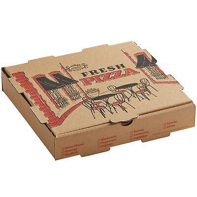 50-pack 10 X 10 X 2 Kraft Square Corrugated Printed Pizza Box
