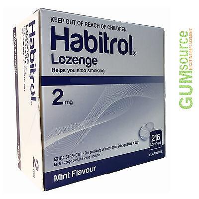 Habitrol Nicotine Lozenge 2mg Mint  1 box 216 -