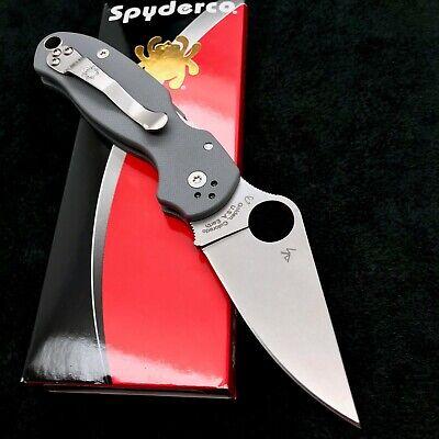 Spyderco Para 3 C223GPDGY Grey G10 Scales - 2.95' Maxamet Blade Paramilitary NEW
