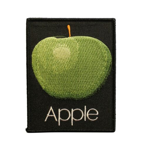 The Beatles Green Apple  Embroidered Iron On Patch - Licensed 074-G