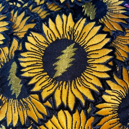 Grateful Dead Sunflower Patches embroidered iron on patch vintage deadhead hippy