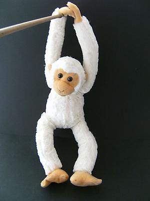 Plüschtier Affe 55cm Affen Gibbon Hängeaffe Stofftier Kuscheltiere beige neu