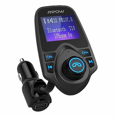 Mpow Car Wireless Bluetooth FM Transmitter USB Charger Adapter MP3 Player Stereo
