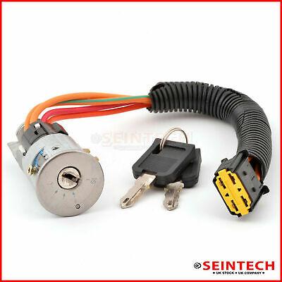 Ignition Switch Lock Barrel + 2 Keys For RENAULT MEGANE MK1 96-03 SCENIC 97-99