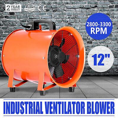 12 Industrial Fan Ventilator Extractor Blower Heavy Duty Telescopic Basement
