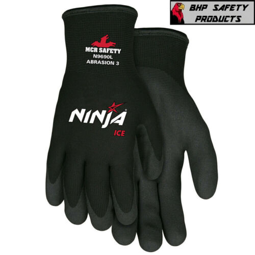 MCR MEMPHIS NINJA ICE INSULATED COLD WINTER WEATHER SAFETY WORK GLOVES 1/PAIR