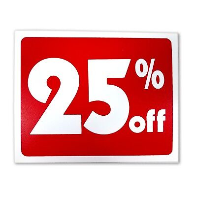 5 Sale 25 Percent Off Business Retail Store Discount Promotion Message Sign