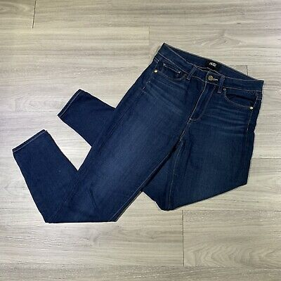 Paige Hoxton Ankle Skinny Women's high rise Dark Wash Jeans Size 29 x 27 EUC
