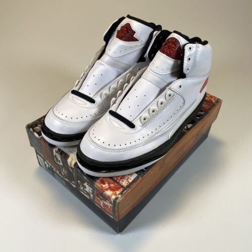 Nike Air Jordan 2 II Retro Basketball Shoes 1995 95 White Red Black Size 9.5