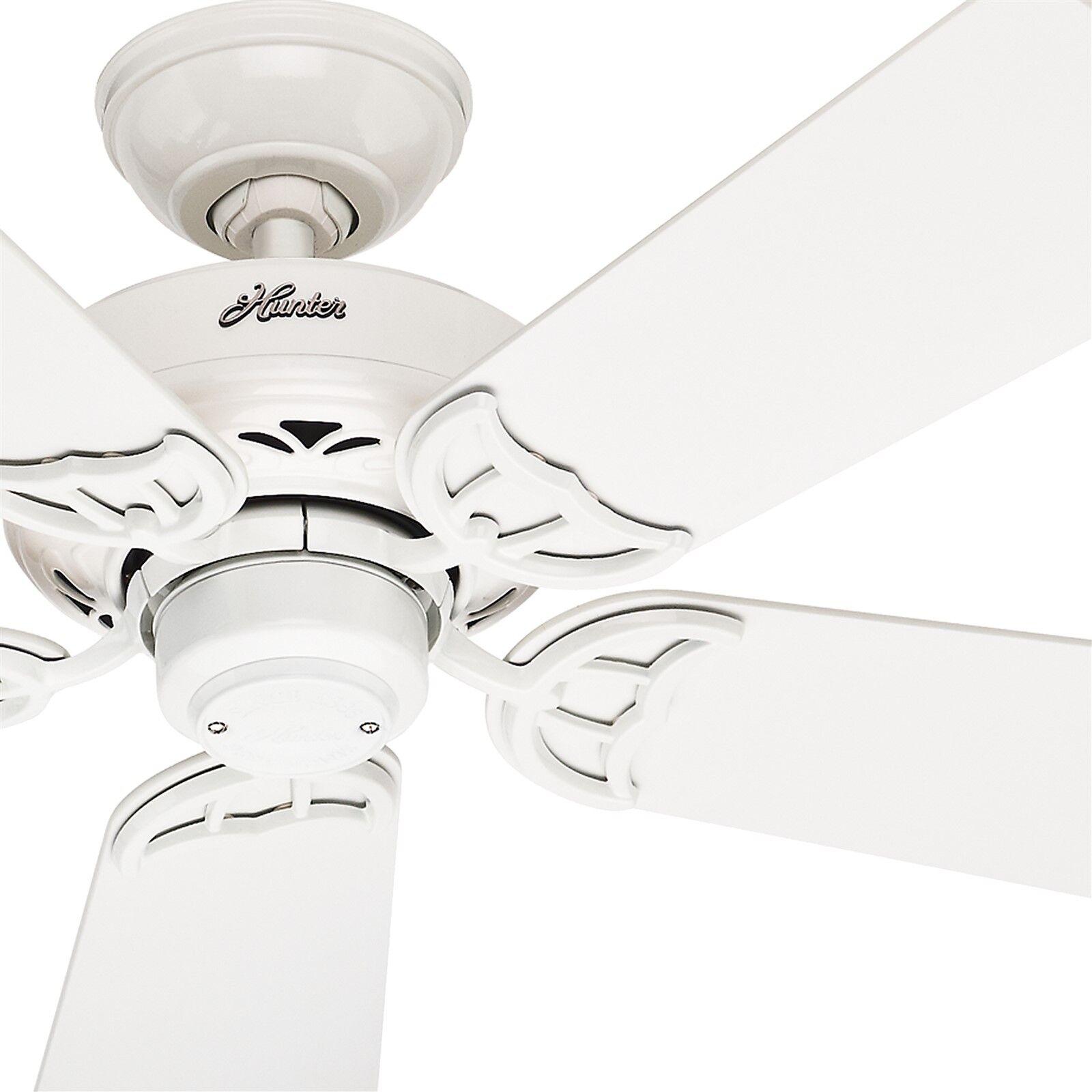 Haushaltsgerate 5 White White Small Room Ceiling Fan Light Oak Fan Blades Hunter Fan 42 In Deckenventilatoren Soseteg It