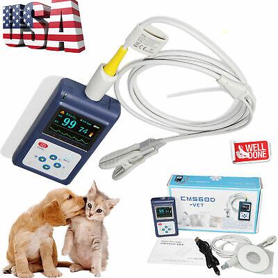 Contec Veterinary Cms60d Hand-held Pulse Oximeter With Vet Probepc Softwareusa