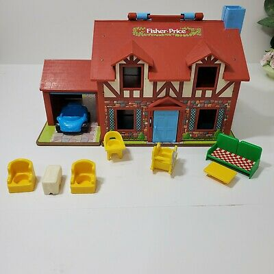 Fisher Price Little People Play Family House #952 1980 Furniture Vintage.