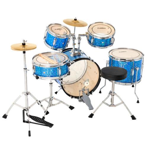 black complete drum set cymbals