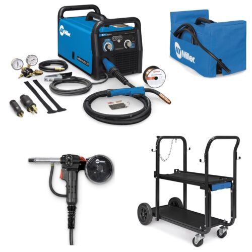 Miller Millermatic 211 MIG Welder/Spoolgun/Cart/Cover (907614 + Accessories)