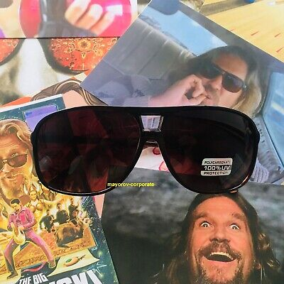 The Big Lebowski Jeff Bridges Dude Cosplay Sunglasses, Best Brown Lenses (Lebowski Sunglasses)