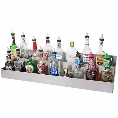 42 Silver Stainless Steel Double Tier Commercial Bar Speed Rail Rack 712b5542d