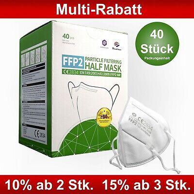 40x FFP2 Maske Shengquan medizinisch CE2834 zertifiziert 5-lagig Atemschutzmaske