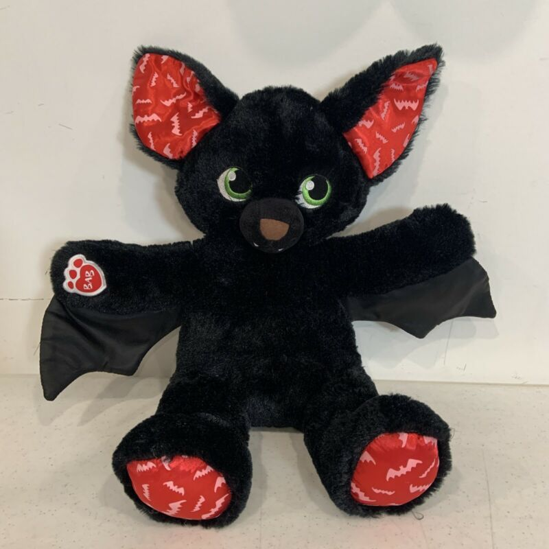 "Build A Bear Vampire Black Bat - Glow-in-the-Dark Ears - 19"" Plush - Boorrific"