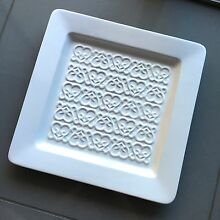 One S&P 38x38cm square serving plate; baroque Woolloomooloo Inner Sydney Preview