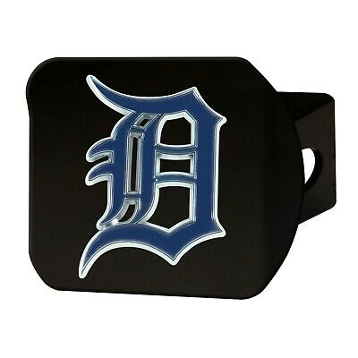 Detroit Tigers Metal - Fanmats MLB Detroit Tigers 3D Color on Black Metal Hitch Cover Del 2-4 Day