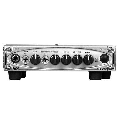 Gallien Krueger MB 200 Lightweight Bass Guitar Amplifier Head 200W at 4 Ohms