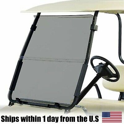 Tinted Fold Down Windshield Made w/ Acrylic For Club Car DS 2000.5-Up Golf Cart