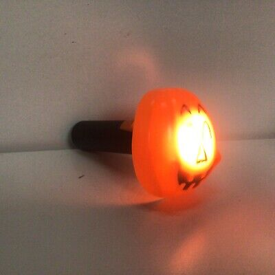 Vintage 1960s - 70s pumpkin Halloween flashlight ( works)