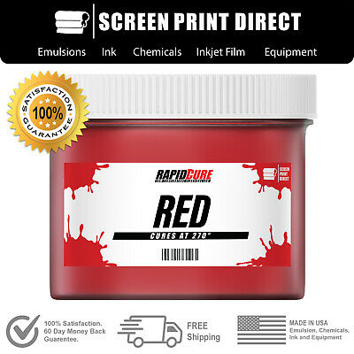 Red - Low Temperature Cure Plastisol Ink For Screen Printing - 8oz