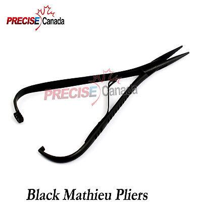 Mathieu Ligature Elastic Placing Plier 5.5 Full Black Coated Orthodontic Pliers