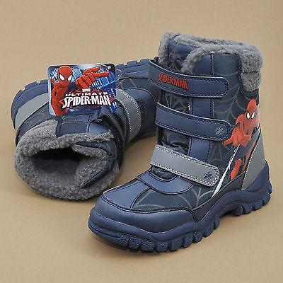 Marvel Spiderman Snowboots Kinder Winterstiefel Warmfutter Klettverschluss