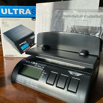 My Weigh Ultraship 75 Lb Digital Scale W Ac Adapter 1x Tube 1x Letter Holder