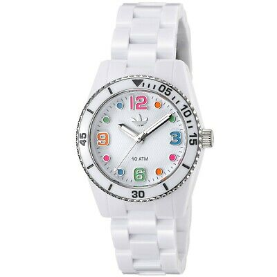 NEW ADIDAS BRISBANE WHITE,RESIN BAND,MULTI COLOR DIAL,SILVER BEZEL,WATCH ADH2941