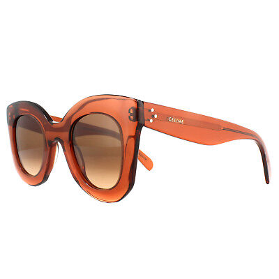 Celine Sunglasses 41393S Baby Marta EFB PP Dark Orange Brown Gradient