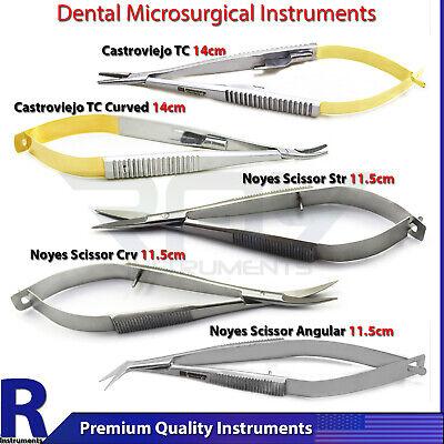 Dental Micro Oral Surgery Gum Cutting Noyes Scissors Needle Holder Castroveijo