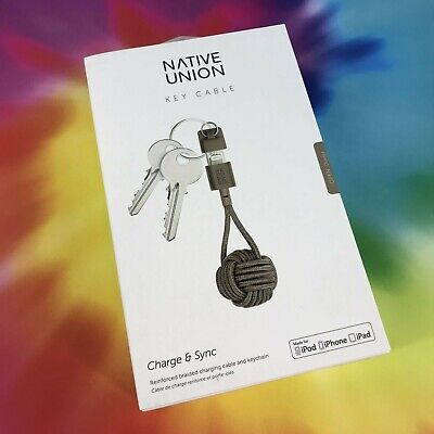 Native Union Key Cable Lightning to USB Charging with Key Fob #3016