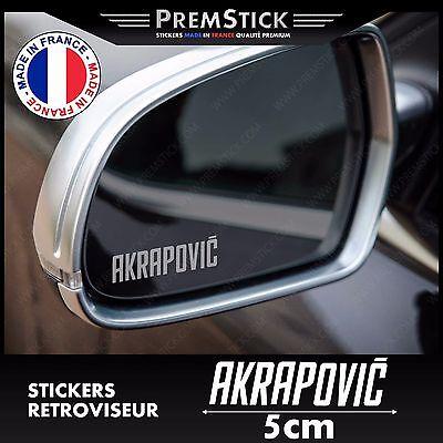 Kit 3 Pegatinas Retrovisor Coche Akrapovic ref2; Automóvil Autoadhesivo Retro