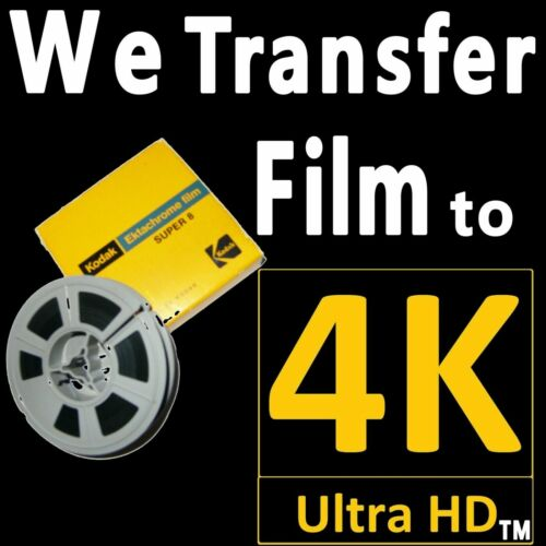 WE TRANSFER 8MM 16MM FILM TO 4K ULTRA HD MP4 TO YOUR USB STICK OR USB 3.0 DRIVE