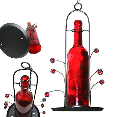BlueDot Trading Red Wine Bottle Seed Bird Feeder Great Gift! SHIPS FREE FROM USA