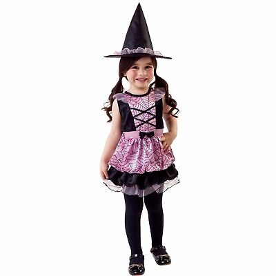 Pink Spider Web Witch Infant, Toddler Halloween Costume 4-6 Years #5152](Spider Halloween Costume 4t)