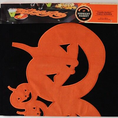 Midnight Market Halloween (NEW Midnight Market Pumpkin Applique Table Runner 36