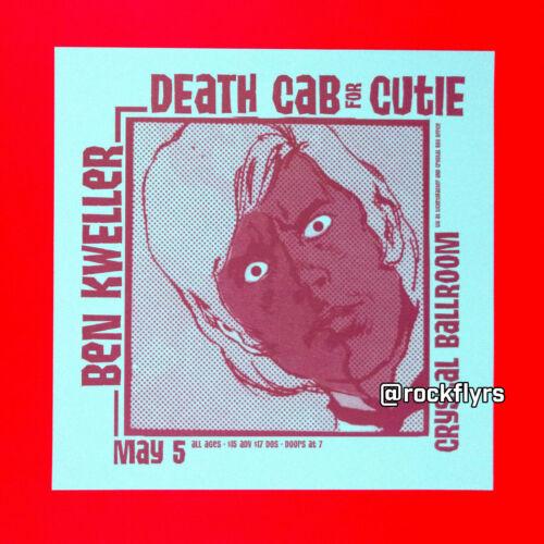 DEATH CAB FOR CUTIE 2004 (May) Original Promo Poster. Portland Oregon.