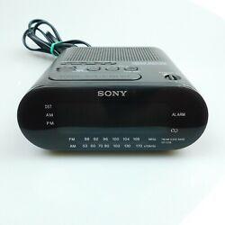 Sony Dream Machine ICF-C218 AM FM Digital Alarm Clock Radio Black Gray Tested